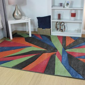 Hand Carved Shatter Multi Rug by Flair Rugs