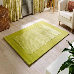 Henley Green Bordered/Striped Rug by Oriental Weavers 1