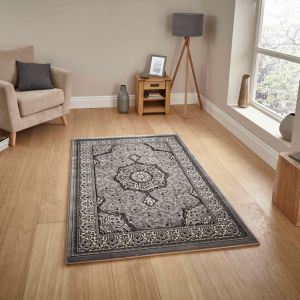 Heritage 4400 Silver Traditional Rug By Think Rugs