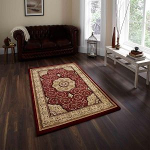 Heritage 4400 Red Traditional Rug By Think Rugs