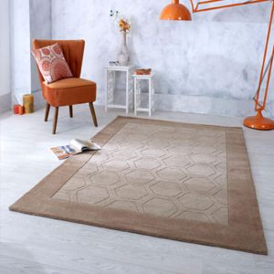 Hex Beige Hand Tufted Rug by Oriental Weavers