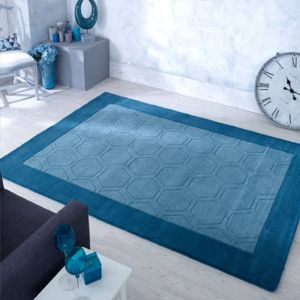 Hex Teal Hand Tufted Rug by Oriental Weavers