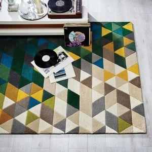 Illusion Prism Green/Multi Rug by Flair Rugs