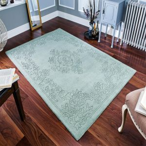 Imperial Green Handmade Wool Rug By Oriental Weavers
