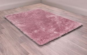 Indigo Blush Plain Shaggy Rug by HMC
