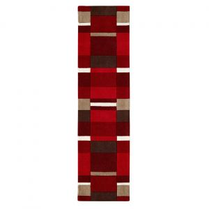 Jazz Blocks Red Runner By Oriental Weavers