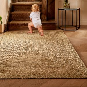 Jute Extra Natural Handmade Braid Stitched Rug by Origins