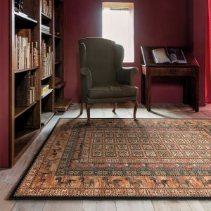 Kashqai 4301 500 Bordered Traditional Wool Rug by Mastercraft