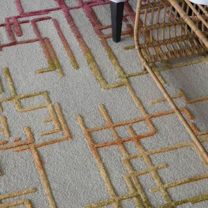 Katsuku Desert Handtufted Wool Rug by William Yeoward