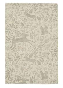 Kelda 023504 Taupe Wool Rug by Scion