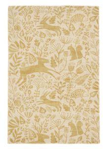 Kelda 023506 Honey Wool Rug by Scion