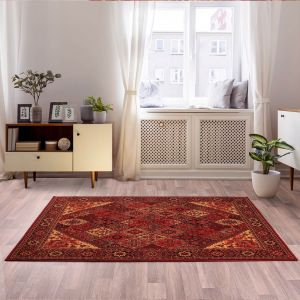 Keshan Heritage Baktiari Red Wool Runner by HMC