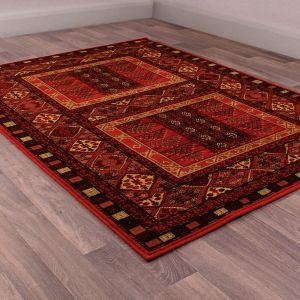 Keshan Heritage Hutchlu Red Wool Rug by HMC