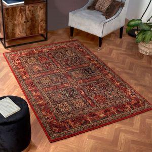 Keshan Heritage Persian Garden Red Wool Rug by HMC