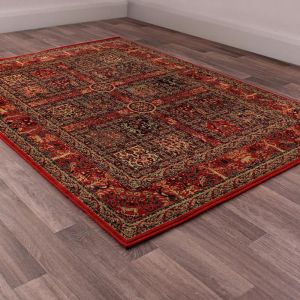 Keshan Heritage Persian Garden Red Wool Runner by HMC
