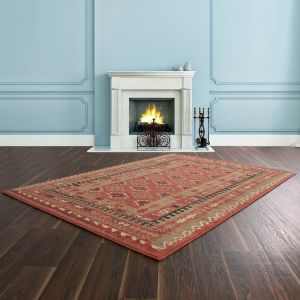 Keshan Supreme Arbil Red Wool Rug by HMC
