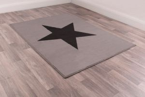 Kids Poly Star Grey Graphics Rug by Rug Style