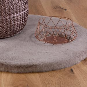 Lambada LAM 835 Taupe Shaggy Rug by Obsession