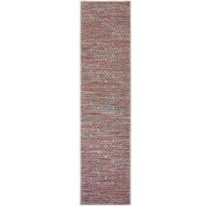 Larino Sunset Terracotta Runner by Flair Rugs