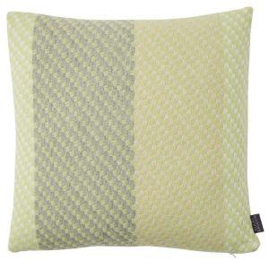Leaf Green Wool Cushion by Claire Gaudion