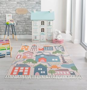 Leka My Town Multi Children Rug by Flair Rugs