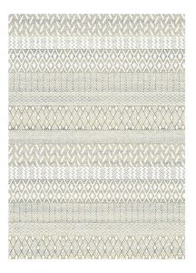 Liberty 034-0031 6191 Gold Striped Contemporary Rug by Mastercraft