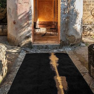 Linares 9055 Black Designer Rug by Christian Fischbacher