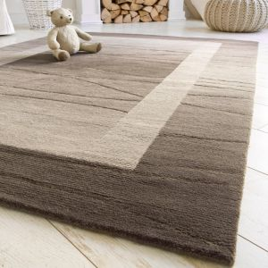 Linea Light Brown Rug by Luxor Living