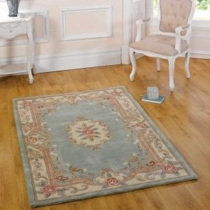Lotus Premium Dynasty Wool Aubusson Green Rug By Flair Rugs