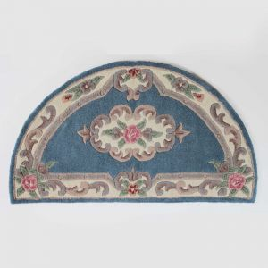 Lotus Premium Aubusson Blue Half Moon Rug By Flair Rugs