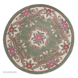 Lotus Premium Aubusson Green Circle Rug By Flair Rugs