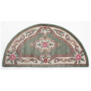 Lotus Premium Aubusson Green Half Moon Rug By Flair Rugs
