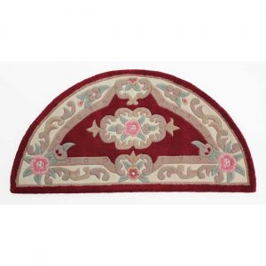 Lotus Premium Aubusson Red Half Moon Rug By Flair Rugs