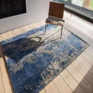 Mad Men Cracks 8629 Abyss Blue Rug by Louis De Poortere