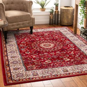Madras 0772 Red Traditional Rug by HMC