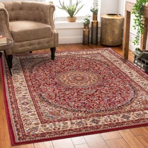 Madras 4626 Red Traditional Rug by HMC