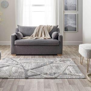 Maison 7813A Dark Grey Light Grey Abstract Rug by Mastercraft