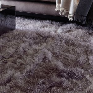 Mantra Grey Plain Wool Rug by Katherine Carnaby