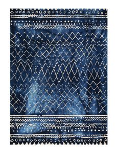 Mariah Indigo Handtufted Wool Rug by William Yeoward