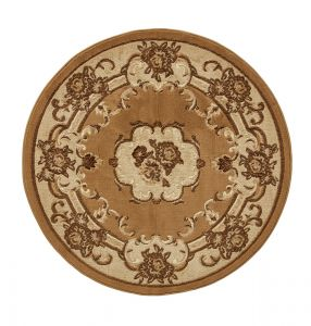 Think Rugs Marrakesh Beige Circle Traditional Rug
