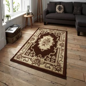 Think Rugs Marrakesh Brown Circle Traditional Rug