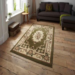 Think Rugs Marrakesh Light Green Traditional Rug