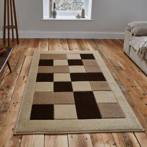 Matrix MT04 Beige Rug by Think Rugs