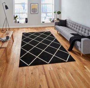 Matrix MT35 Black White Rug by Think Rugs