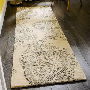 Mayfair Park Grey Beige Runner by Flair Rugs