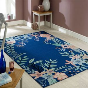 Meadow Blue Wool Rug by Oriental Weavers