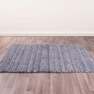 Merino Stevenson Blue Wool Rug by Prestige
