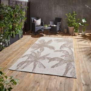 Miami A444 Beige Outdoor Rug by Think Rugs