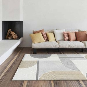 Milano 046-0002/6191 Gold Abstract Rug by Mastercraft