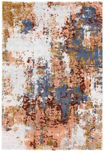 Moda 47127/GC990 Pink Abstract Rug by Mastercraft
